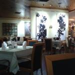 Area del restaurant donde sirven el desayuno