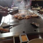 chicken , scallops,lobster, rice