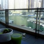 Breakfast overlooking the Marina
