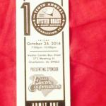 Ticket to the event.