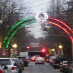 Wooster Street Arch Lit Up