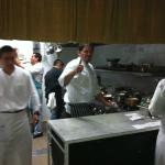 Chef/Owner Eduardo Garcia manages to say Hi/Hola even though the restaurant is crazy busy.