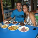 Canadian couple with 'Surprised Thai Dinner'