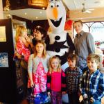 Olaf we love you thanks for visiting Papa Luigis in Wigan