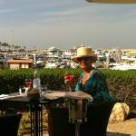 Dining on the terrace, cheers!