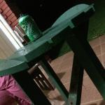 Tischchen auf der Terrasse, entspricht dem Standard im Zimmer