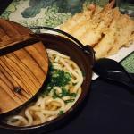 Shrimp and Vegetable Tempura Udon Noodle Soup