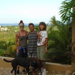 Roger, my mom, myself and one of his super adorable dogs