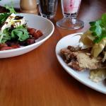 fried sardines + roast beetroot