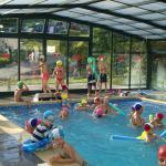 animacion en la piscina climatizada