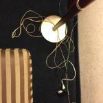 Cords beside the desk