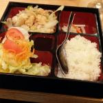 Bento Box - seared squid and a lovely fresh salad. Yum!