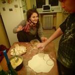 Making vareniki with the lovely manager - Olga!
