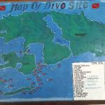 Map of Diving spots around Doberai