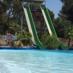 Double slides to help you zoom over the waters surface!
