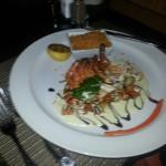 A spicy prawn dinner.