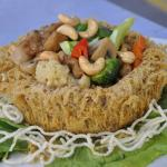yam ring with chicken