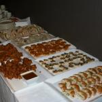 Buffet for 29 people (£12 per head). There are 2 sweet options to the top behind the plates.