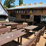 Bar patio and braai area