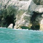 Kayaking through the caves along the way.
