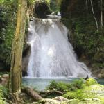 Cascading waterfall - so inviting! - at Blue Hole Falls Ocho Rios