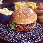 Pulled pork burger, very nice!