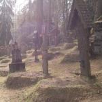 scorcio di sezione sinistra del cimitero