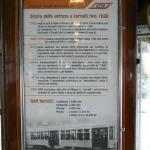 A Brief History of the old trams - in Italian - on board the vehicle