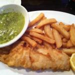 Fish,chips & mushy peas!