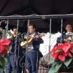 One of the mariachi bands during the free show