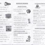 Cabin Fever Menu