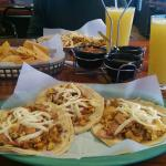 Breakfast tacos and fresh-squeezed orange juice