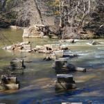 Musgroves Ford at the Enoree River, plus old bridge pilings