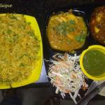 Egg Royal Plate mixed with egg Cheese CUrry, Double Egg Paratha , Egg Biryani