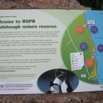 Map at the entrance to RSPB Fowlsheugh