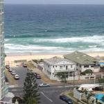 Balcony view to beach