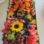 Summer fruit display for a wedding