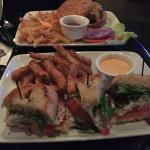 Crab BLT with zucchini fries