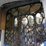 Iron glass door