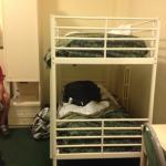 Bunk beds in quadroom on older floor