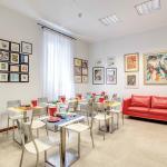 Sala colazioni - arte moderna sulle pareti