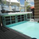 Mini zwembad op hoogte........