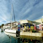 Yacht moored at the Knysna Quays
