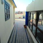 Entrance to roof room plus top of Riad