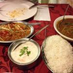 Dal curry and Raita