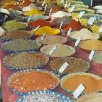 Arles market. lots of spices.