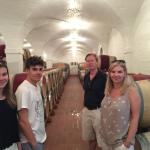In the cellars at Klein Constantia