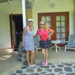Porch on Picaninny Cottage - with owner Atalanta