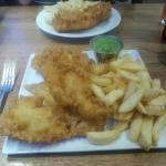 The excellent fish platter!