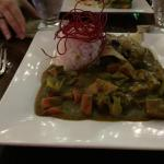 The very tasty West Indian curry